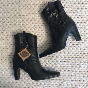 Harley Davidson Leather Harness Boots